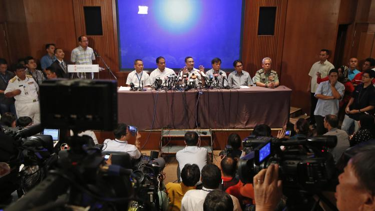 Malaysia's Transport and Defence Minister Hishamuddin Hussein speaks at a news conference near Kuala Lumpur International Airport