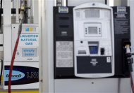 LNG and CNG fuel pumps are seen at a Blu LNG filling station in Salt Lake City, Utah, March 13, 2013. ENN Group Co Ltd, one of China&#39;s largest private companies, is quietly rolling out plans to establish a network of natural gas fueling stations for trucks along U.S. highways. To match Exclusive ENN-LNG/USA REUTERS/Jim Urquhart