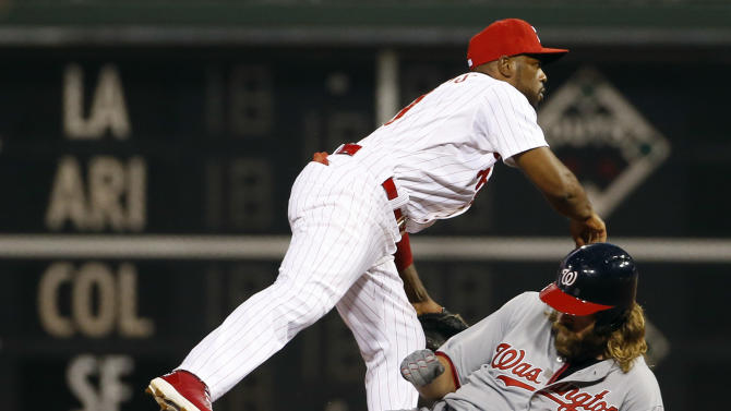 Grady Sizemore powers Phillies to sweep over Nats