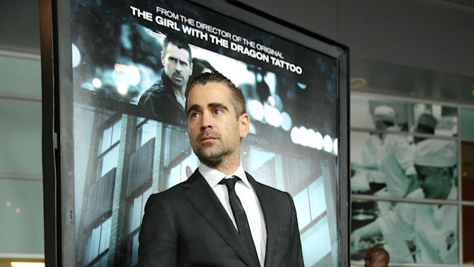 "Colin Farrell at FilmDistrict's World Premiere of ""Dead Man Down"" held at the ArcLight Hollywood, on Tuesday, Feb. 26, 2013 in Los Angeles. (Photo by Eric Charbonneau/Invision for FilmDistrict/AP Images)"