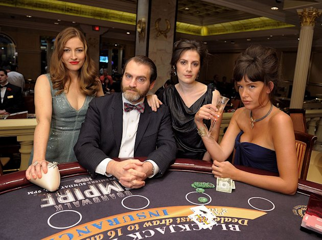 "Kelly Macdonald, Michael Stuhlbarg, Aleksa Palladino, and Paz de la Huerta attend HBO's ""Boardwalk Empire"" Series Premiere party in AC at Caesars Atlantic City on September 16, 2010, in Atlantic City,"