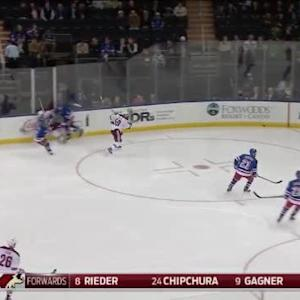 Dan Girardi Hit on Lucas Lessio (00:24/1st)