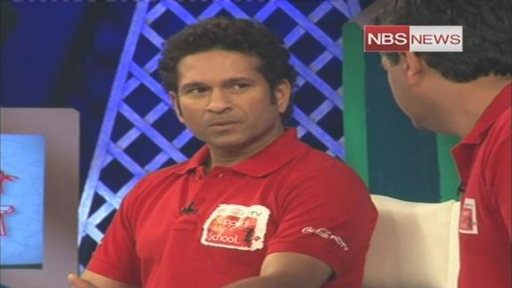 Watch Sachin's love and care for students