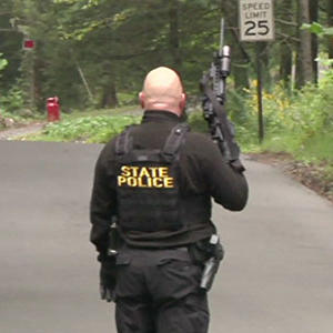 Raw: Police, FBI Search for Pa. Shooting Suspect