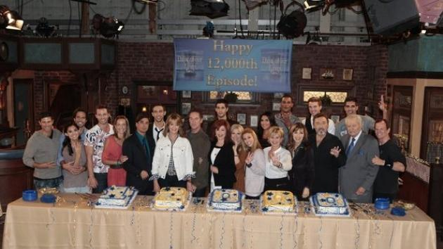The 'Days of Our Lives' cast celebrate their 12,000th episode with a cake cutting -- NBC