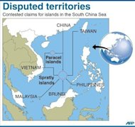 "<p>Map showing the disputed Paracel and Spratly islands in the South China Sea. China has warned that American criticism of its decision to set up a new military garrison in the South China Sea sent the ""wrong signal"" and threatened peace in the hotly disputed waters.</p>"