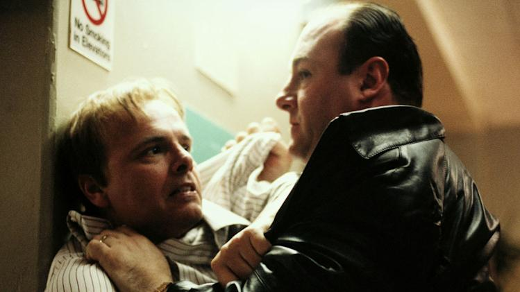 Ralph Cifarertto had an extremely gruesome death on The Sopranos, being decapitated after being strangled to death. This was for allegedly starting a fire that killed Tony's horse Pie-O-My.