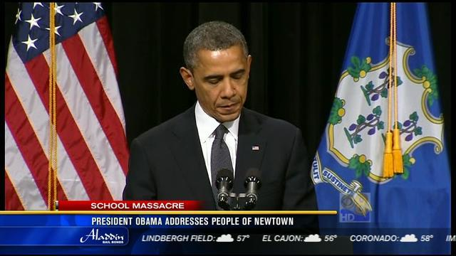 President Obama addresses people of Newtown