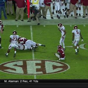 10/10/2015 Arkansas vs Alabama Football Highlights