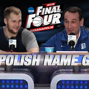 Duke's Coach K & Gonzaga's Karnowski Play Name Game | ACC Road to Indy