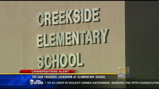 Toy gun triggers lockdown at elementary school in Sabre Springs