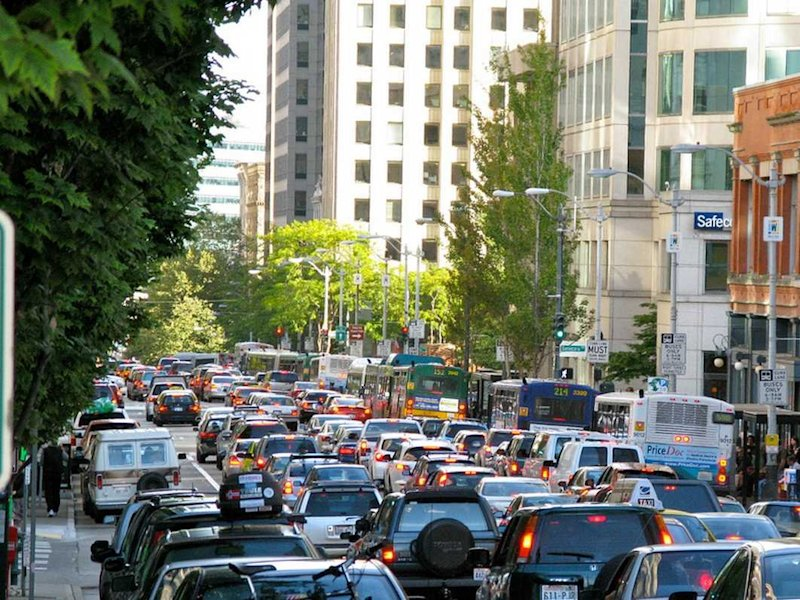 Highway congestion Seattle