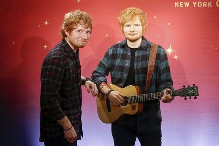 Singer Ed Sheeran and his 'lazy eye' immortalized in wax