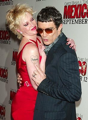 Premiere: Melanie Griffith and Antonio Banderas at the New York premiere of Columbia's Once Upon a Time in Mexico - 9/7/2003