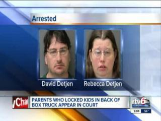 Parents of kids in truck appear in court