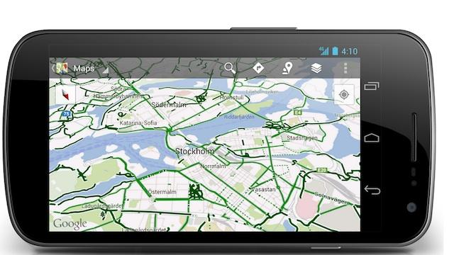 Google Maps for Android Adds Half a Billion Meters of Bike Paths