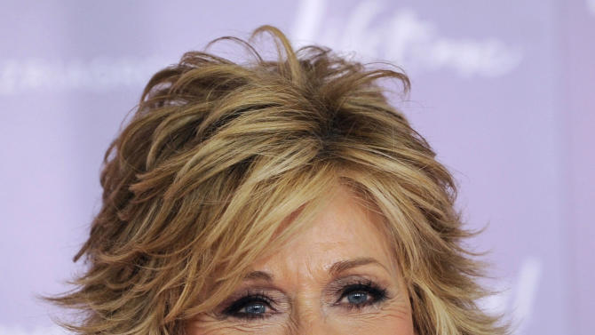 FILE - This Dec. 7, 2011 file photo shows actress Jane Fonda arriving at The Hollywood Reporter's 20th annual Women in Entertainment Breakfast in Beverly Hills, Calif., celebrating the 100 most powerful women in the entertainment industry. Celebrities have courted politicians, and vice versa, since the dawn of Hollywood, but what happens when the alliance backfires, when the two worlds are suddenly speaking different languages? (AP Photo/Chris Pizzello, file)