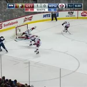 Andrew Hammond Save on Andrew Ladd (13:32/1st)