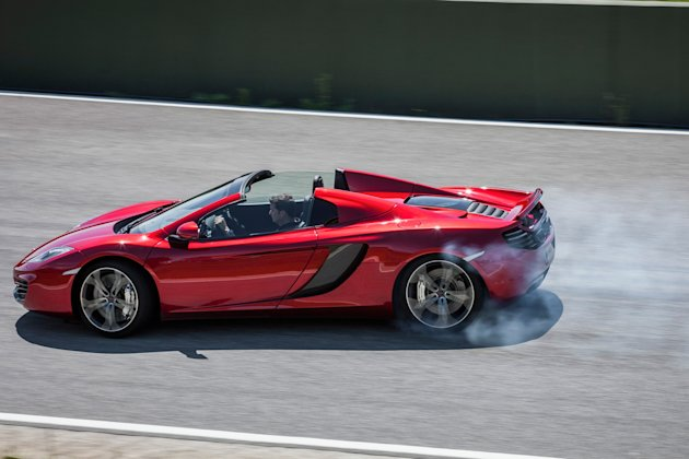 McLaren MP4 12C Spider: 	Near effortlessly fast so youre never quite sure if its you or the on-board computers doing the driving if youre pushing the grip envelope, but its great to have a world c
