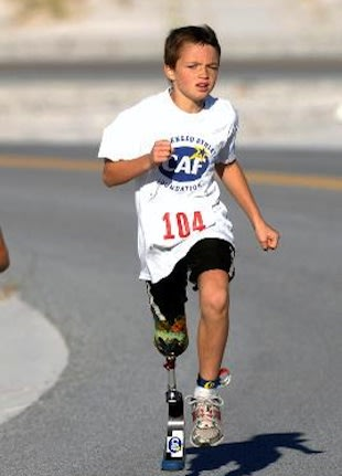 Ben Baltz competes in a previous triathlon &#x002014; CaringBridge.org