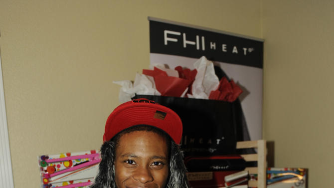 Actor Carlon Jeffery visits FHI HEAT hair tools at the Fender Music lodge during the Sundance Film Festival on Saturday, Jan. 19, 2013, in Park City, Utah. (Photo by Jack Dempsey/Invision for Fender/AP Images)