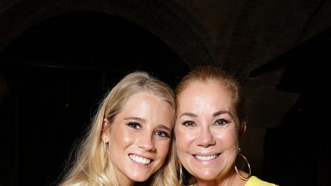 """Cassidy Gifford and Kathie Lee Gifford seen at the Los Angeles Premiere of New Line Cinema """"The Gallows"""" held at Hollywood High School on Tuesday, July 7, 2015. (Photo by Eric Charbonneau/Invision for Warner Bros./AP Images)"""