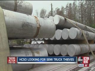Deputies search for two men they say stole a tractor trailer