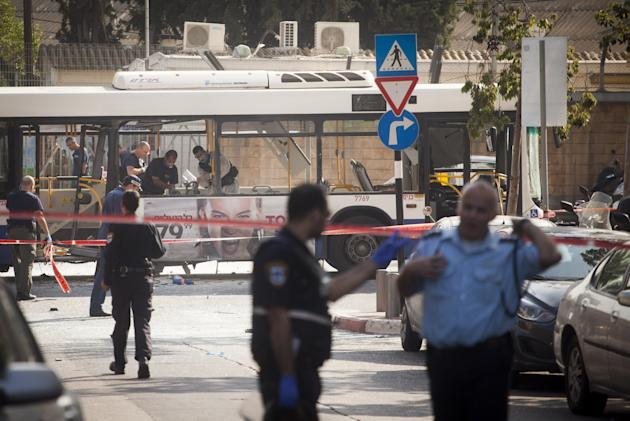 Bomb Blast On Bus In Tel Aviv