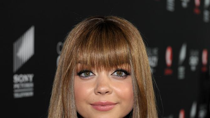 """Actress Sarah Hyland arrives at Lifetime and Sony Pictures Television's premiere event  for """"Call Me Crazy: A Five Film"""" at the Pacific Design Center on Tuesday, April 16, 2013 in West Hollywood, Calif. """"Call Me Crazy"""" debuts on Saturday, April 20, 2013 at 8 PM on Lifetime. (Photo by John Shearer/Invision for Lifetime/AP Images)"""