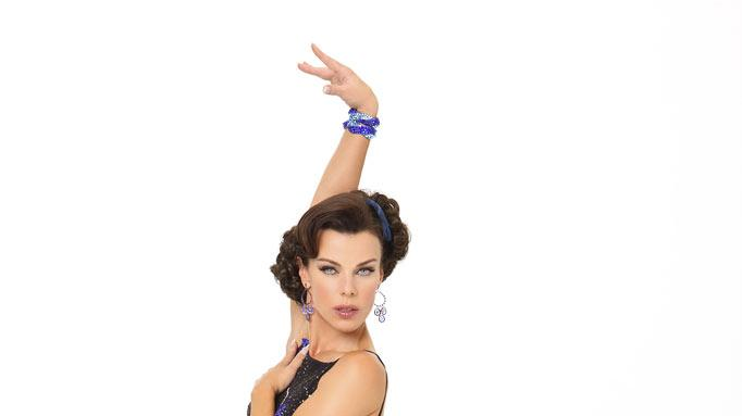 "Actress Debi Mazar competes in season 9 of ""Dancing with the Stars."""