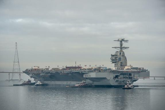 US Navy's Next-Generation Aircraft Carrier Begins Testing Phase