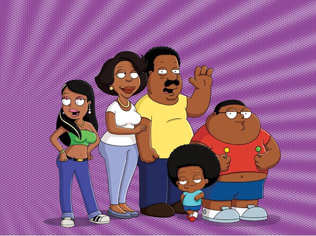 "Roberta, Donna, Cleveland, Rallo and Cleveland Jr. on ""The Cleveland Show."""