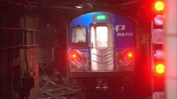 PATH service resumes between Hoboken and World Trade Center