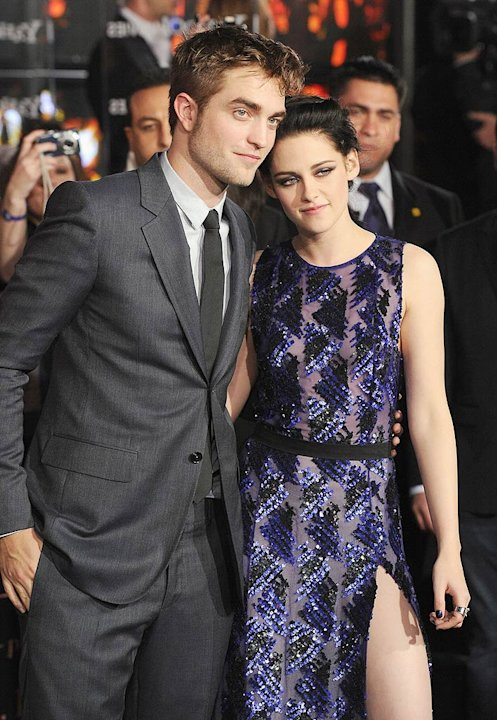 Pattinson Stewart Twilight Saga Premiere