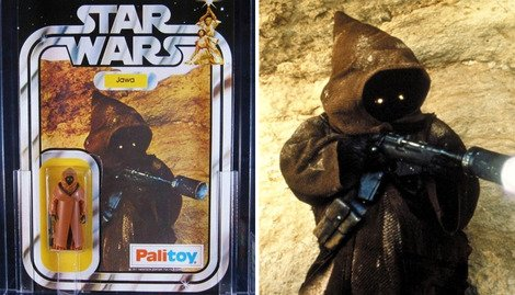The Palitoy vinyl-caped Jawa is expected to make £12000.