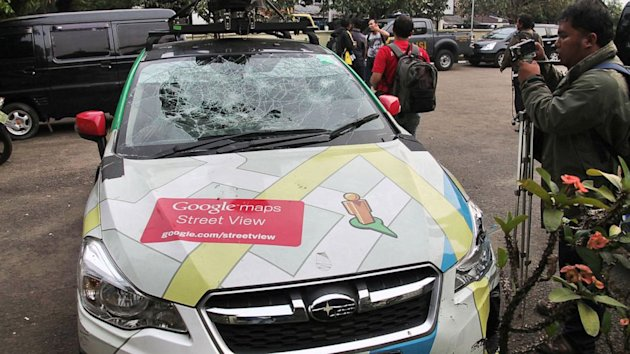 Google Street View Car Smashes Into Three Different Vehicles in One Day (ABC News)