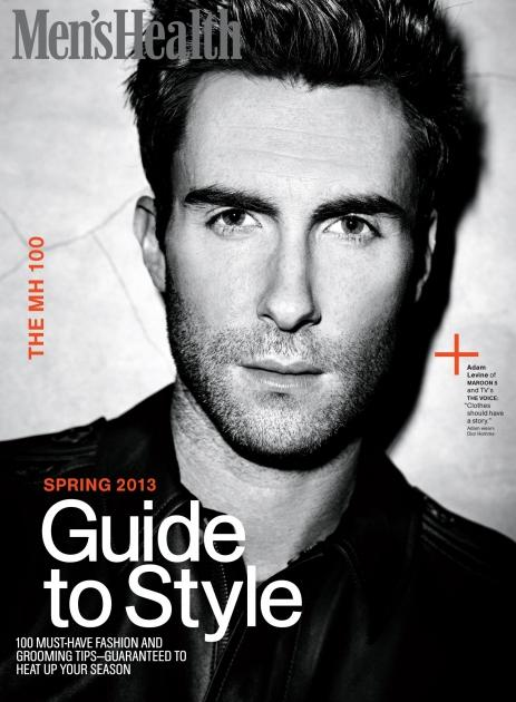 Adam Levine on the cover of Men's Health (March 2013)  -- Men's Health