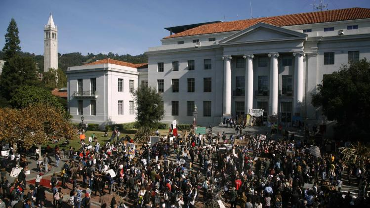 File photo of Sproul Plaza at the University of California Berkeley