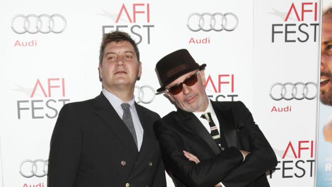 "Writer Thomas Bidegain and Writer/Director Jacques Audiard arrives at the ""Rust and Bone"" AFI Screening at Grauman's Chinese Theatre on Monday November 5, 2012 in Hollywood, California.  (Photo by Todd Williamson/Invision/AP Images)"