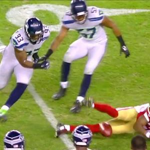 San Francisco 49ers punt returner Perrish Cox fumbles, recovered by Seahawks
