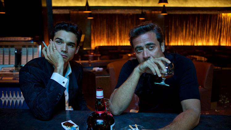 "Steven Strait as Stevie Evans and Jeffrey Dean Morgan as Ike Evans in ""Magic City."""