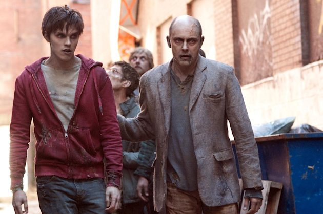 This film image released by Summit Entertainment shows Rob Corddry, right, and Nicholas Hoult in a scene from &quot;Warm Bodies.&quot; (AP Photo/Summit Entertainment, Jonathan Wenk)