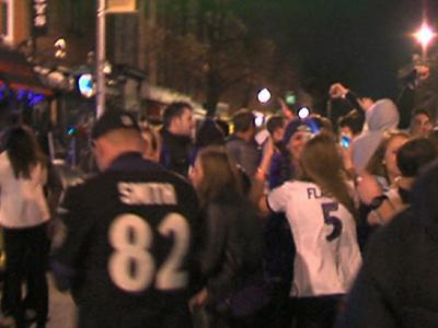 Raw: Ravens Fans Mob Baltimore Streets