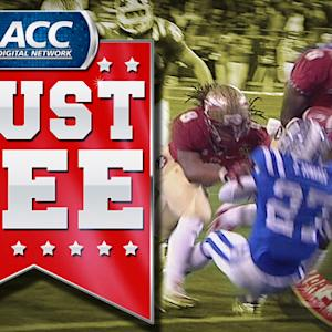 FSU RB Karlos Williams Runs Over Duke Defender for TD | ACC Must See Moment