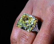 Actress Regina King wears a near $2 mn yellow diamond ring from Graff Diamonds at an event in Los Angeles in January. High-end London-based jeweller Graff Diamonds is planning to list in Hong Kong on June 7, a report says, as it seeks to raise up to $1.0 bn in one of the biggest IPOs this year