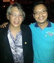 Jun Lopito with fanboy Erwin Oliva (Photo courtesy of Erwin Oliva)