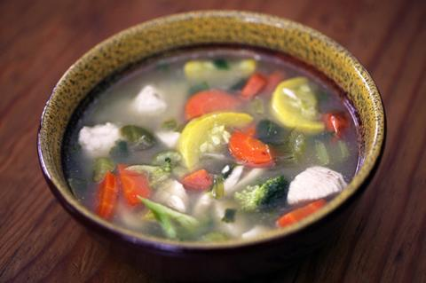 Spicy Vegetable Chicken Lemongrass Soup