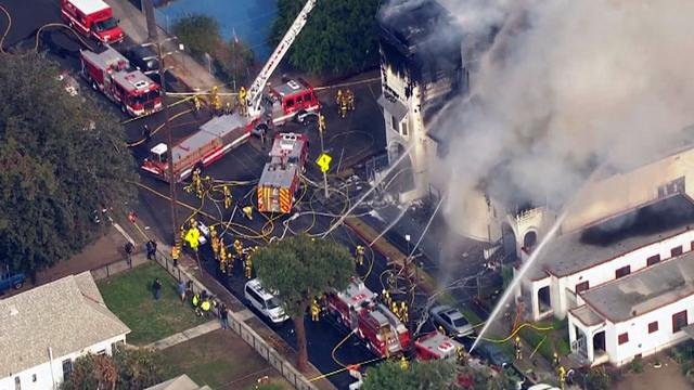 Historic church goes up in flames