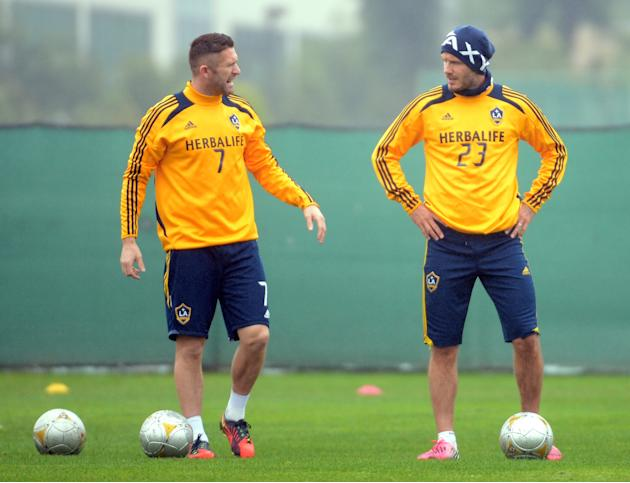 2012 MLS Cup - Los Angeles Galaxy Training Session
