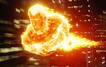 Chris Evans as The Human Torch, in 20th Century Fox's Fantastic Four